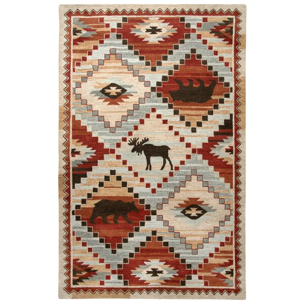 Pouliot Hand-Tufted Wool Red Area Rug by Loon Peak