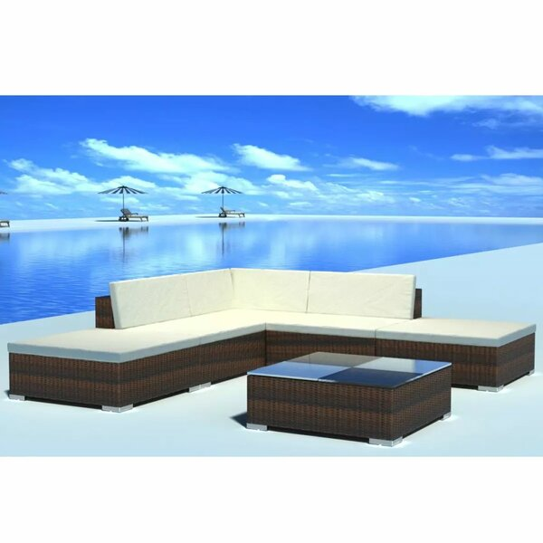 Rounds Garden 6 Pieces Rattan Sofa Seating Group with Cushions by Orren Ellis