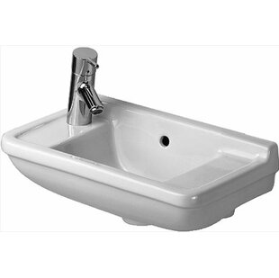 Price comparison Starck 3 Ceramic 20 Wall Mount Bathroom Sink with Overflow By Duravit