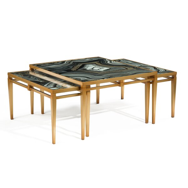 Agate 3 Piece Coffee Table Set by John-Richard
