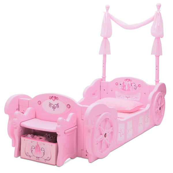 Delta Children Disney Princess Carriage Convertible Toddler Bed ...