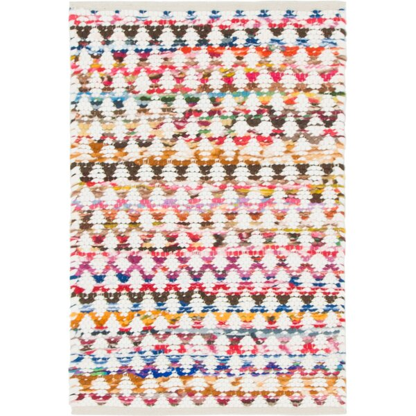 Hirth Hand-Braided Pink/Yellow Area Rug by Bungalow Rose