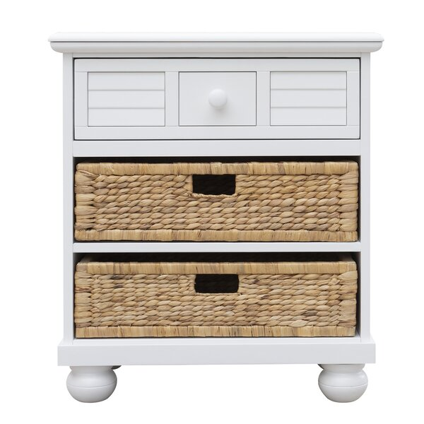 Jalyn Basket 3 Drawer Nightstand by Rosecliff Heights