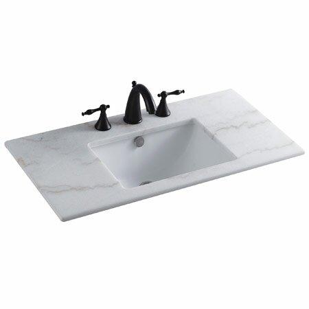 Forum Ceramic Rectangular Undermount Bathroom Sink with Overflow by Elements of Design