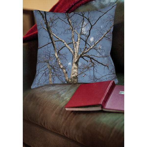 Reach for the Sky Printed Throw Pillow by Manual Woodworkers & Weavers