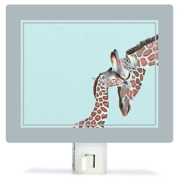 Non-Personalized You And Me Giraffe Canvas Night Light by Oopsy Daisy