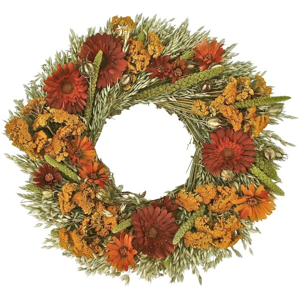 Midwest Garden Wreath by Dried Flowers and Wreaths LLC