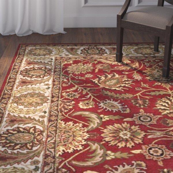 Balthrop Hand-Tufted Red/Beige Area Rug by Astoria Grand