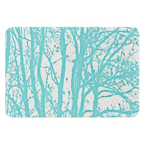 Mint Trees by Monika Strigel Bath Mat by East Urban Home