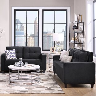 Living Room Sofa Set Morden Style Couch Furniture Upholstered Loveseat And Sofa For Home Or Office by Latitude Run®