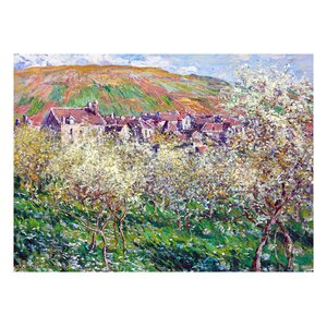 Flowering Plum Trees by Claude Monet Painting Print by Prestige Art Studios