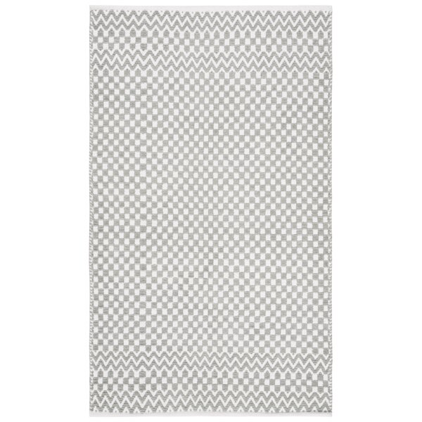 Redbrook Hand-Tufted Cotton Gray Area Rug by Wrought Studio