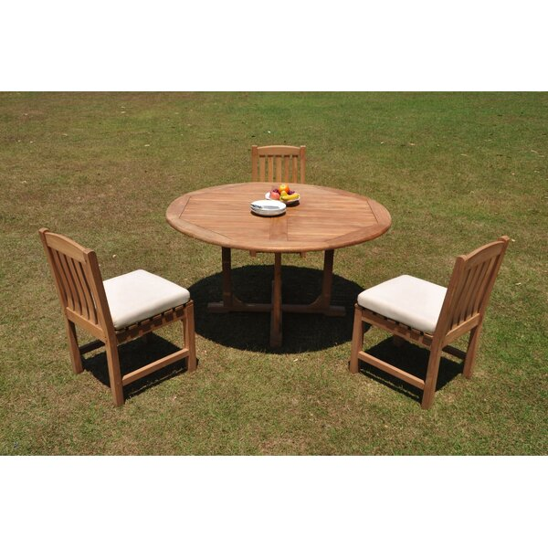 Erika 4 Piece Teak Dining Set by Rosecliff Heights