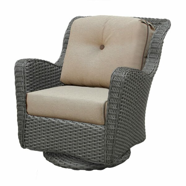 Adriel Swivel Glider Chair with Cushions by Rosecliff Heights
