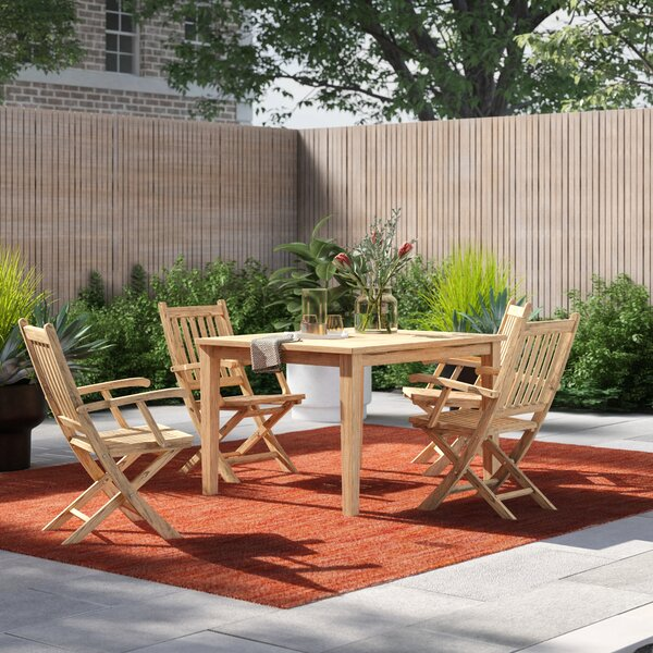 Anthony 5 Piece Teak Dining Set by Foundstone