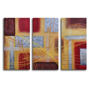 Conducting 3 Piece Wrapped Canvas Art Set by My Art Outlet