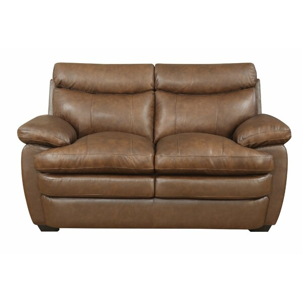 Millwood Leather Loveseat by Darby Home Co