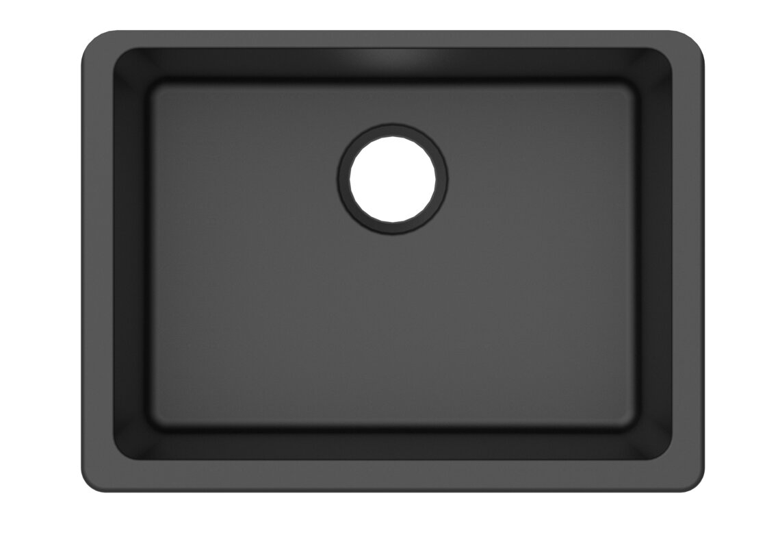 granite quartz 25   x 18 5   single bowl undermount kitchen sink winpro granite quartz 25   x 18 5   single bowl undermount kitchen      rh   wayfair com
