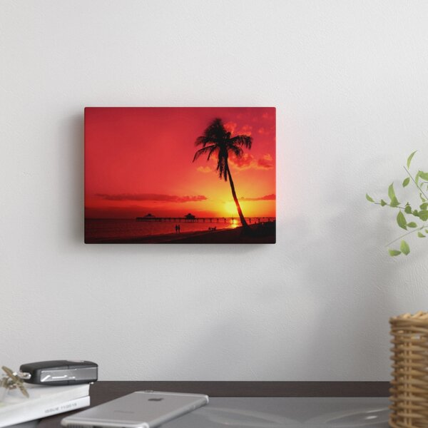 Romantic Sunset Photographic Print on Wrapped Canvas by East Urban Home
