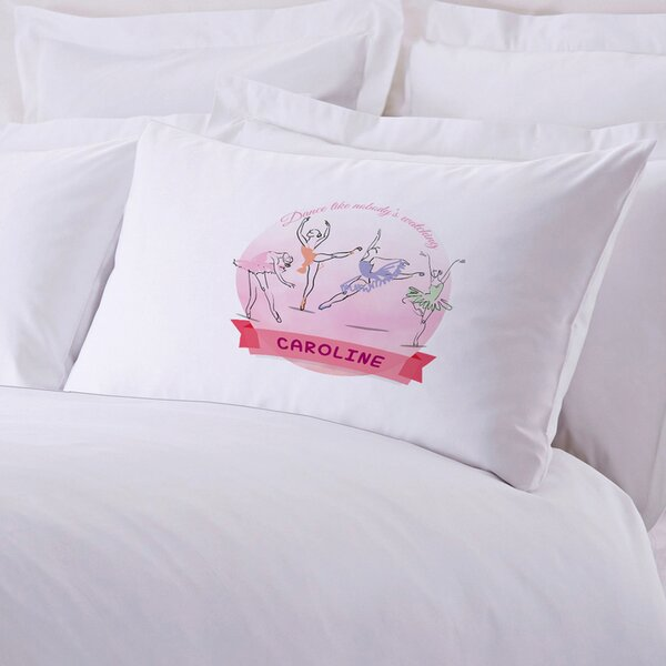 Personalized Ballerina Pillow Case by Monogramonline Inc.