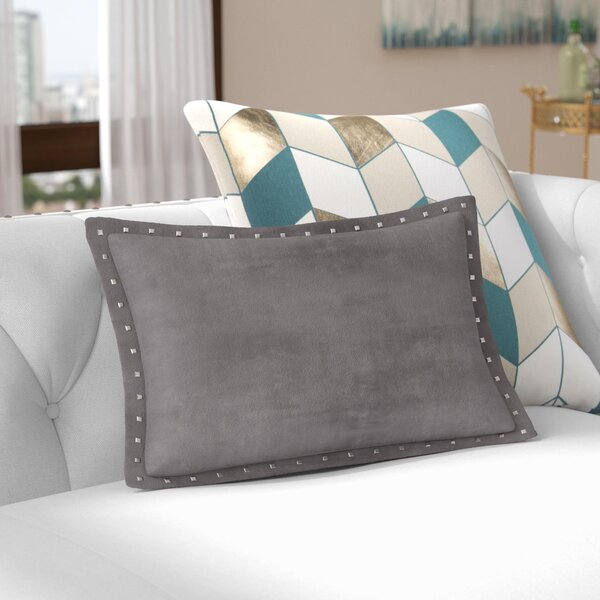 Ronning Stud Trim Lumbar Pillow by Willa Arlo Interiors
