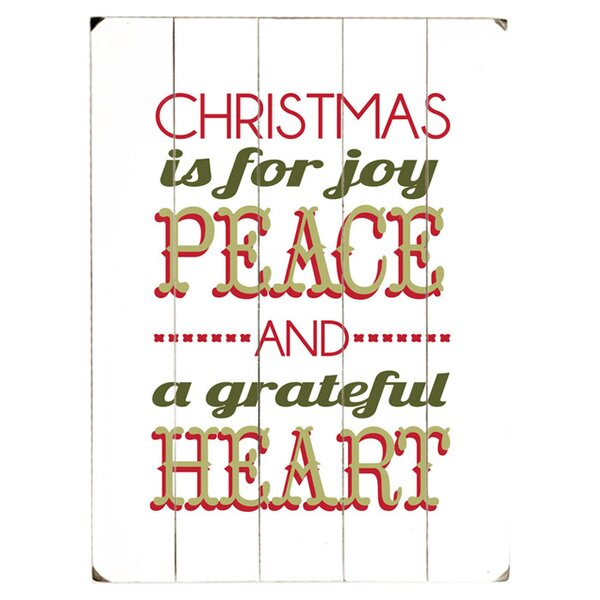 Christmas is for Joy Textual Art Multi-Piece Image on Wood by Artehouse LLC