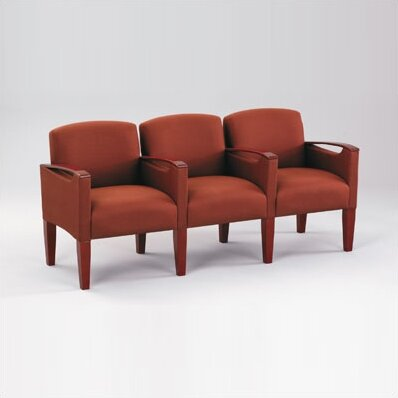 Brewster Three Seats with Center Arm by Lesro
