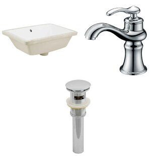 Affordable Price CUPC Ceramic Rectangular Undermount Bathroom Sink with Faucet and Overflow ByRoyal Purple Bath Kitchen