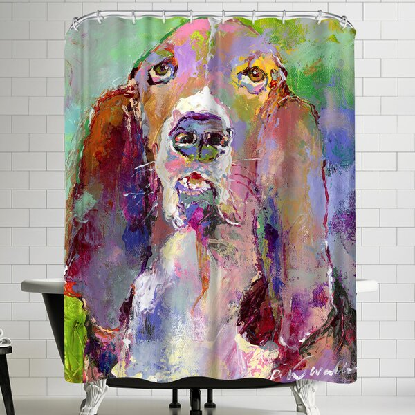 Richard Wallich Basset Hound Shower Curtain by East Urban Home