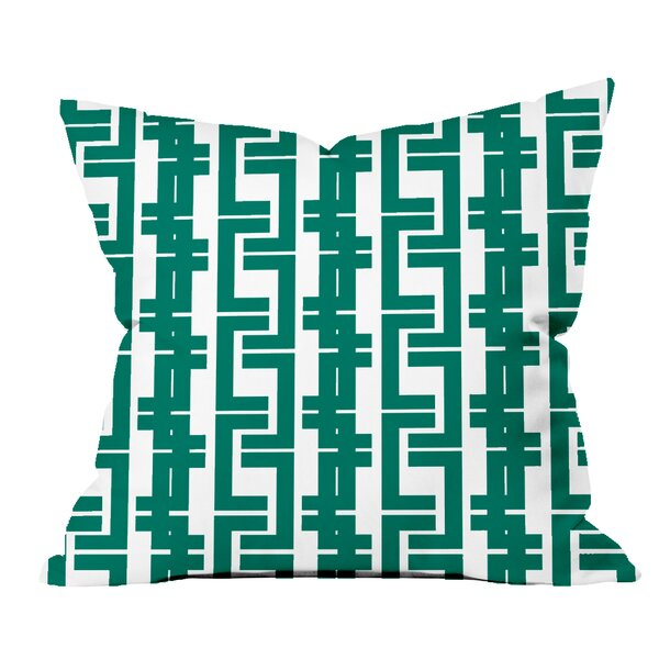 Interlocking Lines Geometric Throw Pillow by Positively Home