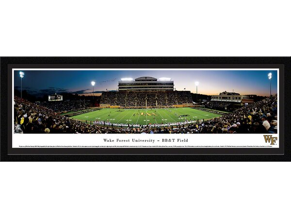 NCAA Wake Forest University - 50 Yard Line by Christopher Gjevre Framed Photographic Print by Blakeway Worldwide Panoramas, Inc