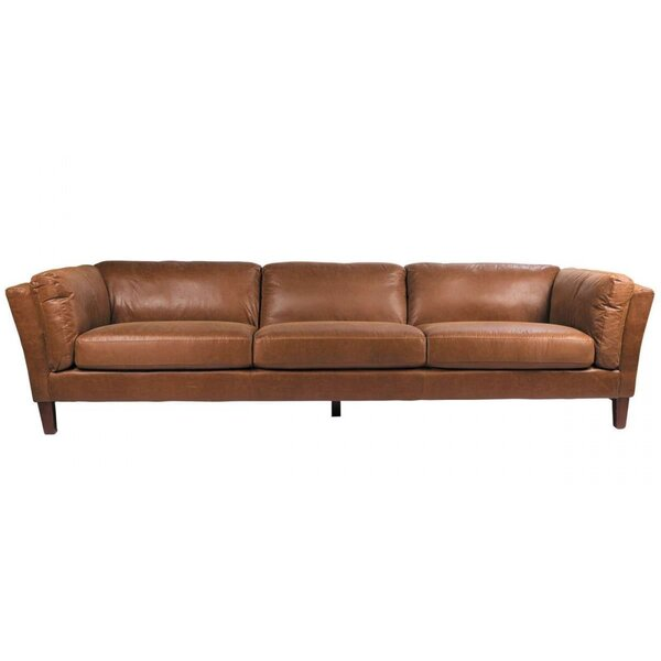 Condron 3 Seater Leather Sofa by Foundry Select