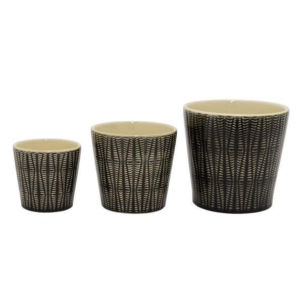 Pearman 3-Piece Ceramic Pot Planter Set by Union Rustic
