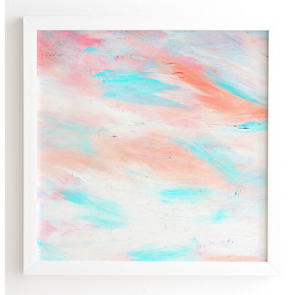 Coral Abstract Framed Painting Print by Mercury Row