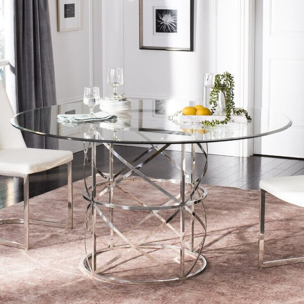 Petrella Glass Top Dining Table By Orren Ellis 2019 Online
