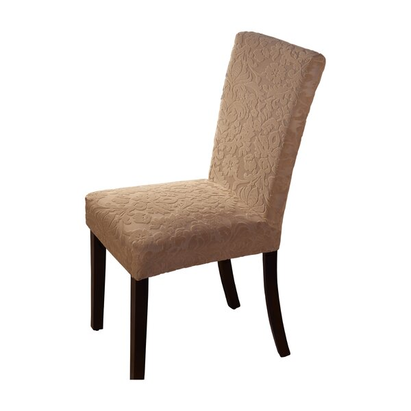 Velvet Damask Parson Chair Slipcover by Astoria Grand