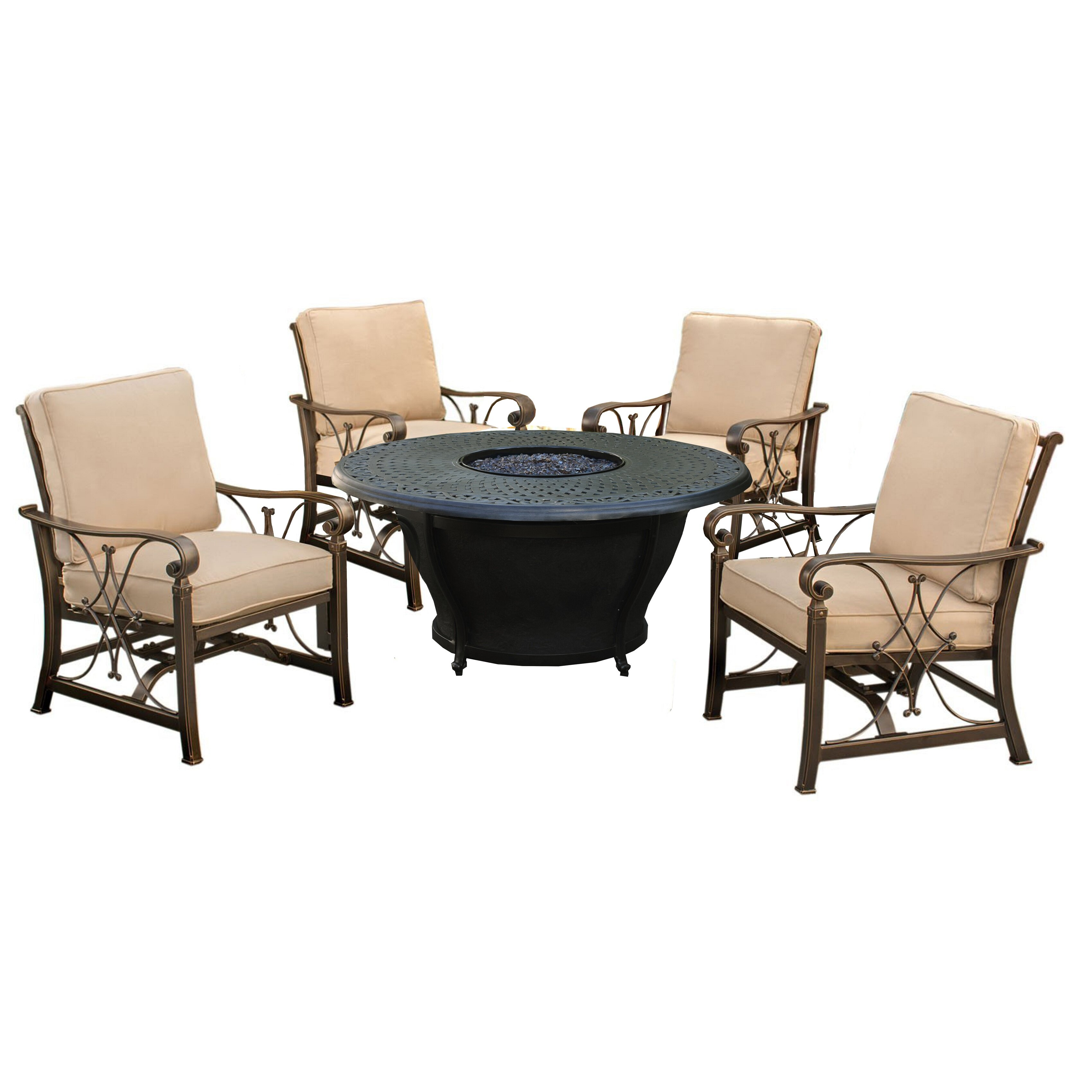 Darby Home Co Owego 5 Piece Conversation Set with Cushions | Wayfair