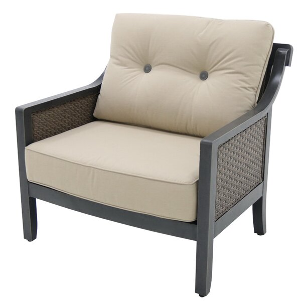 Hew Aluminum Outdoor Wicker Cuddle Patio Chair with Cushion (Set of 4) by Gracie Oaks