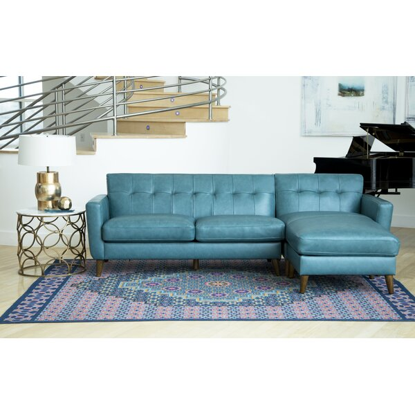Guadalupe Leather Reversible Sectional by Corrigan Studio