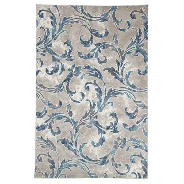 Ivory/Blue Area Rug by Lavish Home