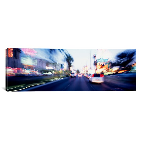 Panoramic The Strip At Dusk, Las Vegas, Nevada Photographic Print on Wrapped Canvas by iCanvas