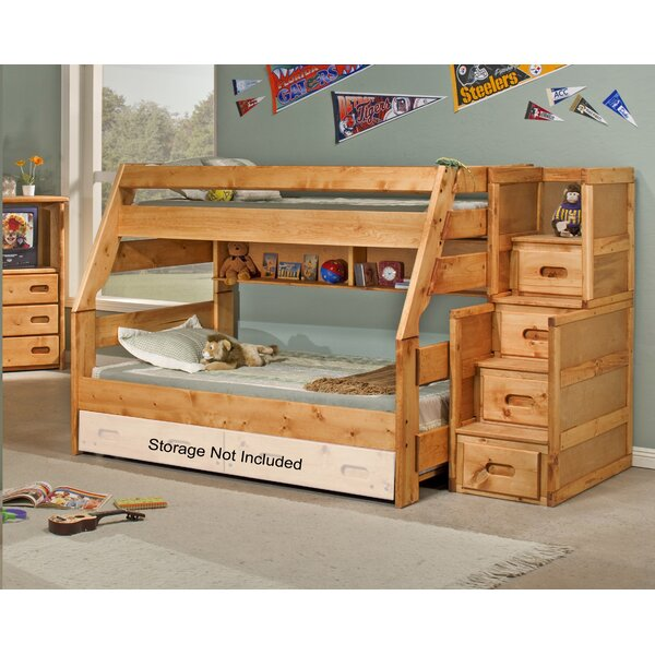 Milda Twin Over Full Bunk Bed with Stairway Chest by Harriet Bee