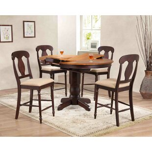 Napoleon Back Counter Height 5 Piece Pub Table Set ByIconic Furniture