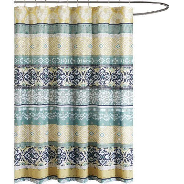 Filey Printed Shower Curtain by Ebern Designs