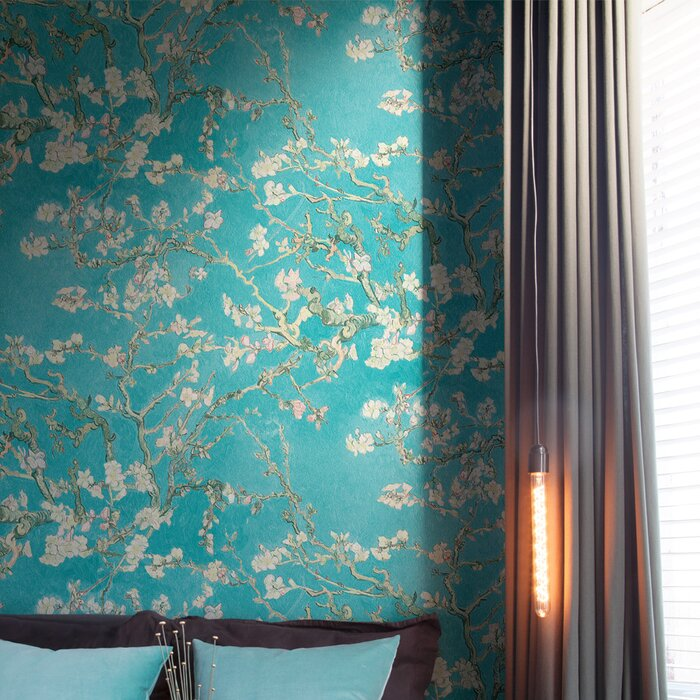 Van Gogh Blossoming Almond Trees 33 X 208 Floral And Botanical Plaster Wallpaper Roll