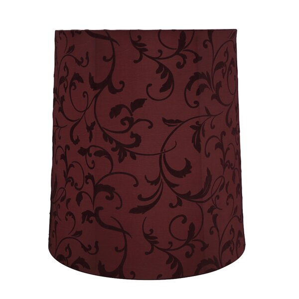 15 H Linen Empire Lamp Shade ( Spider ) in Red