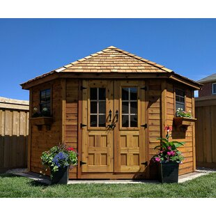 outdoor wood shed kit wayfair