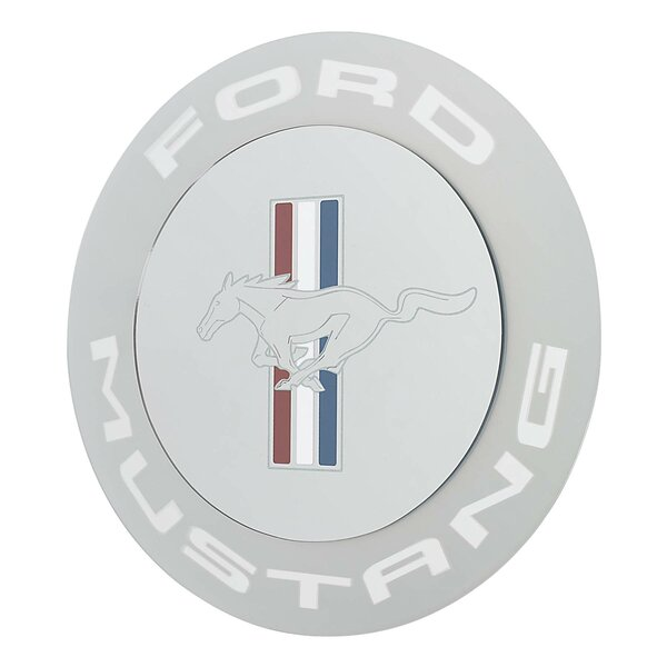 Mustang Circle Mirror Wall Décor by Ford