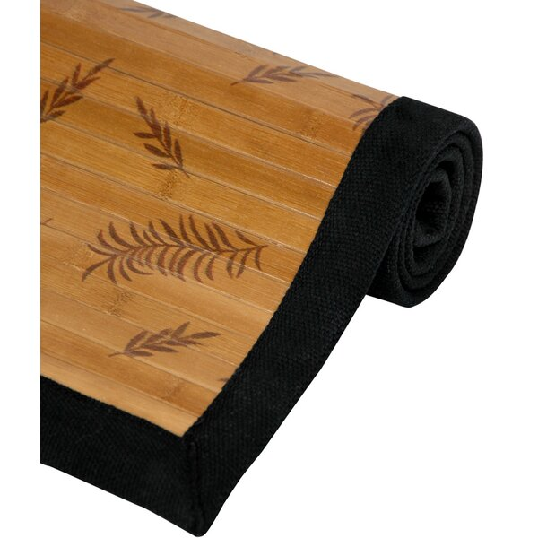 Little Leaf Bamboo Rug by Oriental Furniture