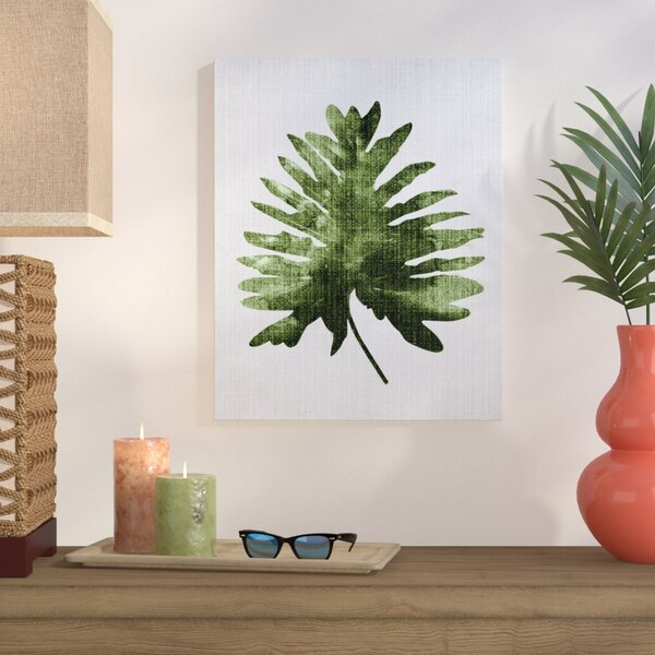 Tropical Leaf 2 Graphic Art on Wrapped Canvas by Bay Isle Home